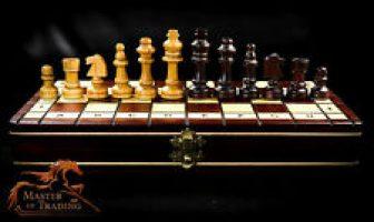 Único Cherry Juego de ajedrez madera IMPRESIONANTE Mano Hecha a piezas &...