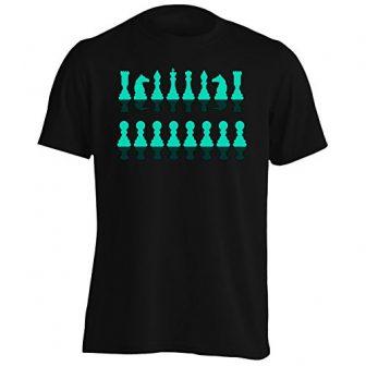 Nuevas Piezas De Ajedrez Siluetas Camiseta de los hombres h647m