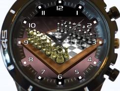 Reloj de ajedrez de pulsera unisex para regalo