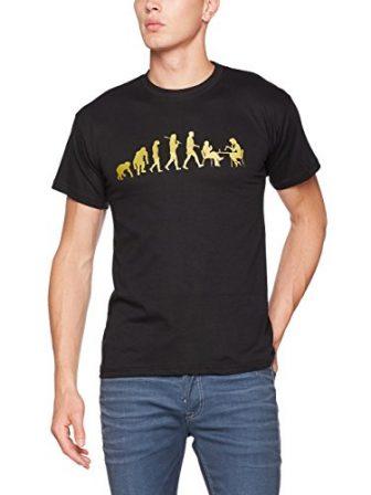 Shirtzshop Camiseta Gold Edition Ajedrez Ajedrez Jugadores Ajedrez Chess Evolution, unisex, T...