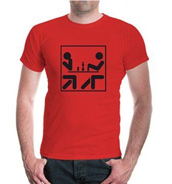 T-Shirt Chess-Pictogram-S-red-black