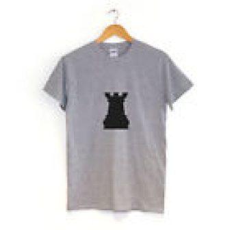 Torre Castle Pieza de ajedrez Camiseta Muchos Colores Hipster Ropa