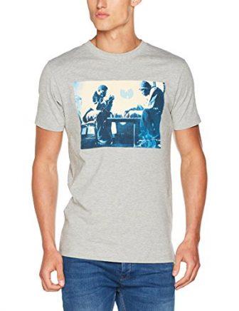 Wu Wear Hombre Ajedrez camiseta - Gris Heather, XL