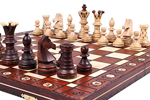 The Jarilo - Unique Wood Chess Set, Pieces, Chessboard & Storage by ChessCentral